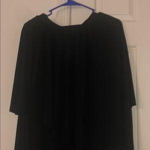 Long dress size 1 STORE FROM TORRID BLACK DRESS